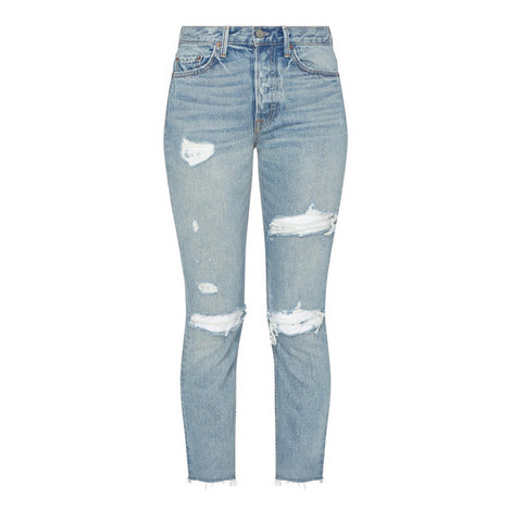 Karolina High-Rise Skinny Ripped Jeans , ${color}