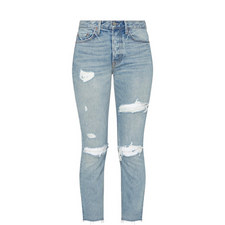 Karolina High-Rise Skinny Ripped Jeans