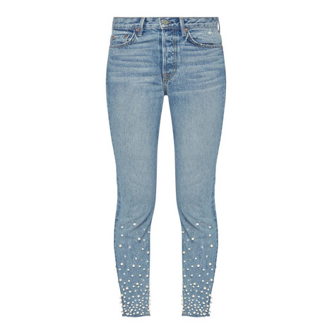 Karolina High-Rise Skinny Embellished Jeans , ${color}
