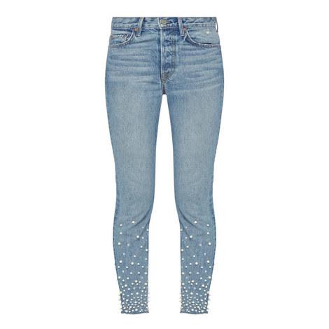Karolina High-Rise Skinny Embellished Jeans, ${color}