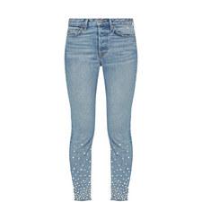 Karolina High-Rise Skinny Embellished Jeans