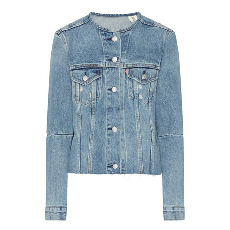 Altered Trucker Denim Jacket, ${color}