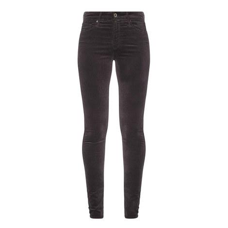 Farrah Velvet High-Rise Skinny Jeans, ${color}
