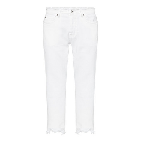 Josefina High-Waisted Frayed Jeans, ${color}