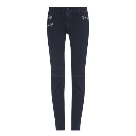 Roxanne Zip Cropped Jeans, ${color}
