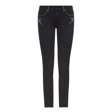 Roxanne Embellished Cropped Jeans, ${color}