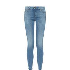 Skinny Crop Frayed Jeans