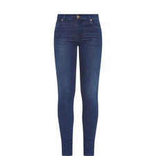 High-Waisted Skinny Crop Jeans