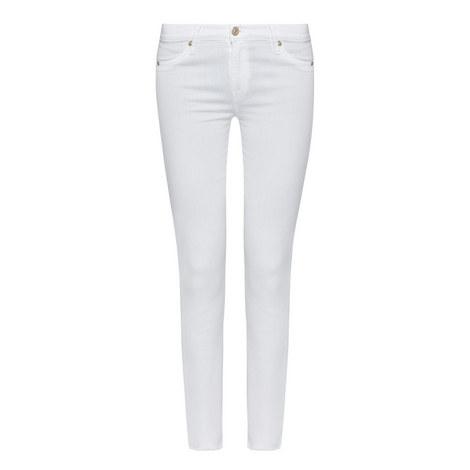 Skinny Crop Frayed Jeans, ${color}