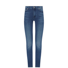 High Waisted Skinny Crop Jeans