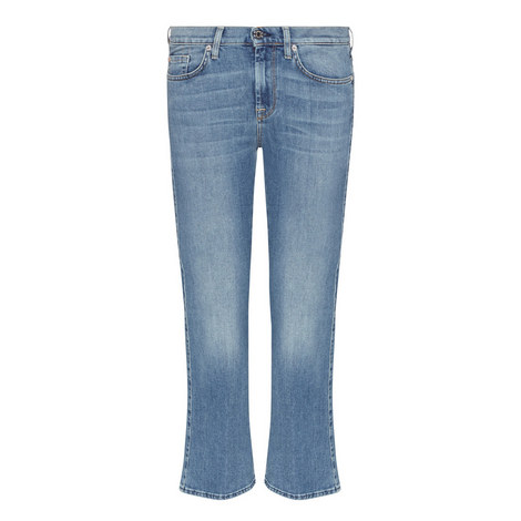 Cropped Bootcut Jeans, ${color}