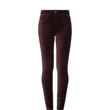 Hoxton Velvet Skinny Jeans