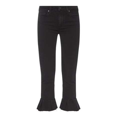 Rafaela Frill Cropped Jeans, ${color}