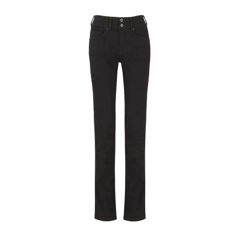 Secret High Rise Straight Leg Jeans, ${color}