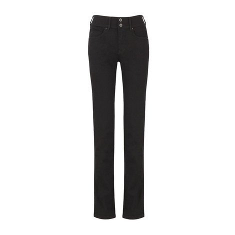 Secret High Rise Straight Leg Jeans, ${color}