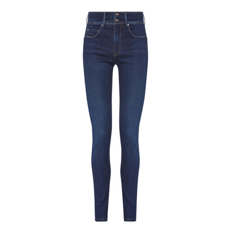 Secret Push In High-Waist Skinny Jeans, ${color}