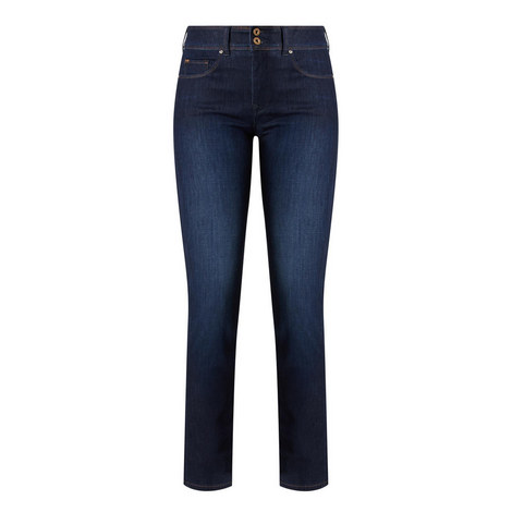 Secret High Waisted Slim Jeans, ${color}