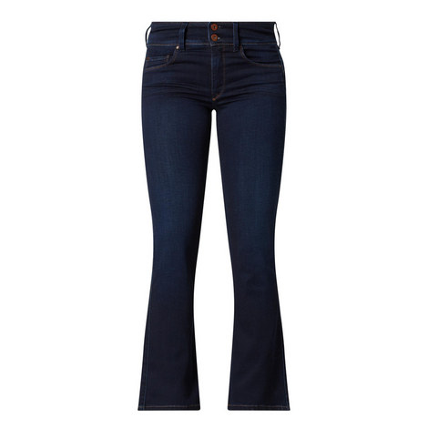 Push In Boot Cut Jeans, ${color}