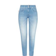 Secret Push-In Capri Jeans
