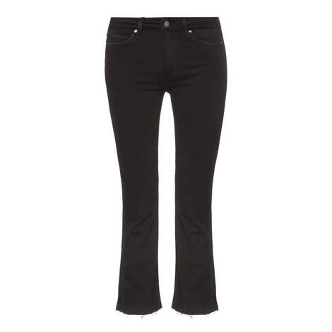 Colette Crop Flared Jeans, ${color}