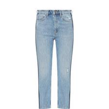 Jeanne Side Stripe Mom Jeans