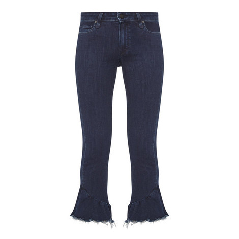 Flora Frayed Hem Jeans, ${color}