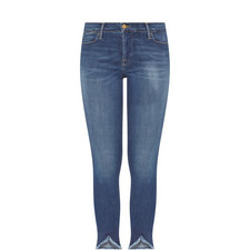 Le High Skinny Triangle Hem Jeans