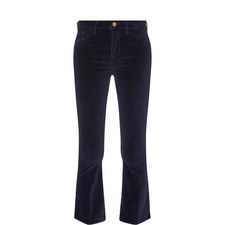 Le Velveteen Cropped Bootcut Jeans