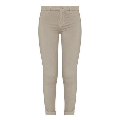 Anja Cropped Sateen Jeans, ${color}
