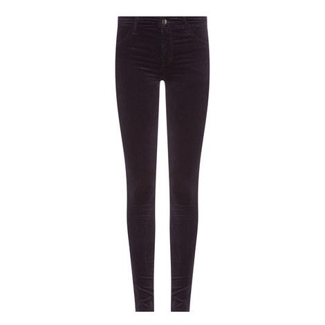 Mid Rise Skinny Velveteen Jeans, ${color}