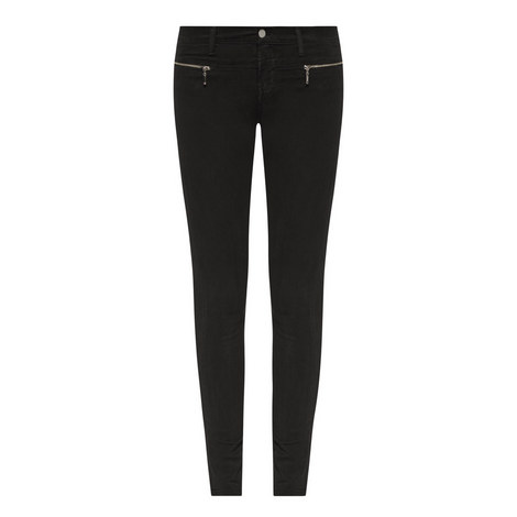 Miranda Zip Skinny Jeans, ${color}