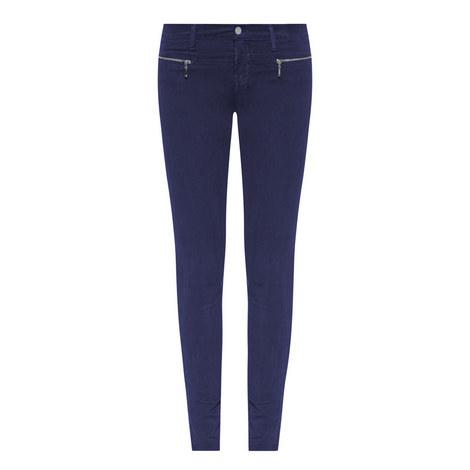 Miranda Zip Skinny Jeans, ${color}