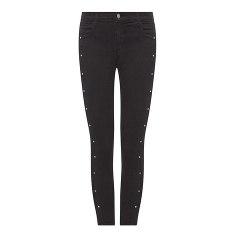 Abla Mid Rise Cropped Jeans, ${color}