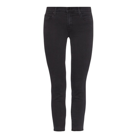 Mid Rise Cropped Jeans, ${color}