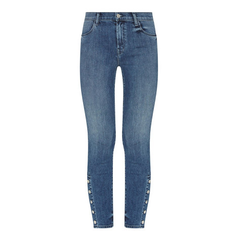 Alana Buttoned Cropped Jeans, ${color}