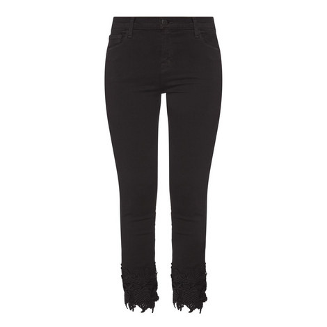 Lace Detailed High Rise Jeans, ${color}