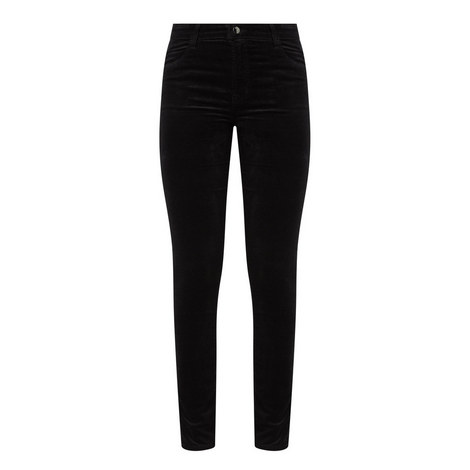 Maria High-Rise Skinny Velvet Jeans, ${color}