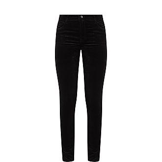 Maria High-Rise Skinny Velvet Jeans