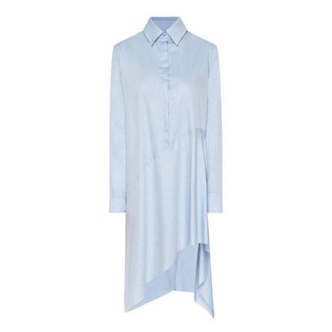 Asymmetric Long Sleeve Shirt Dress, ${color}