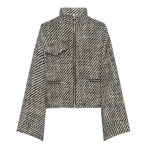 Striped Wool Jacket, ${color}