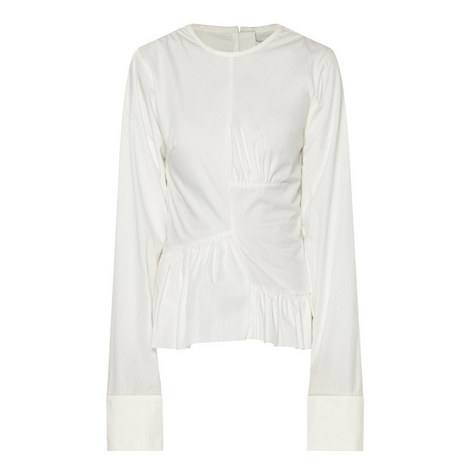 Exaggerated Cuff Blouse, ${color}