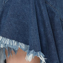 Asymmetric Raw Hem Denim Dress, ${color}