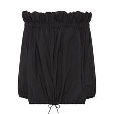 Long-Sleeved Off-Shoulder Top