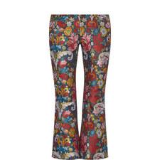 Jacquard Flare Capri Trousers