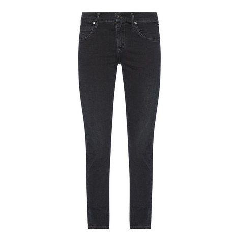 Elsa Slim Cropped Jeans, ${color}