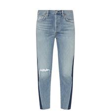Liya Cropped High Rise Jeans