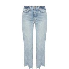 Carmen Raw Edge Straight Jeans
