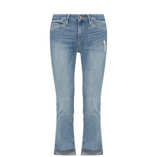 Good Straight Raw Stagger Hem Jeans