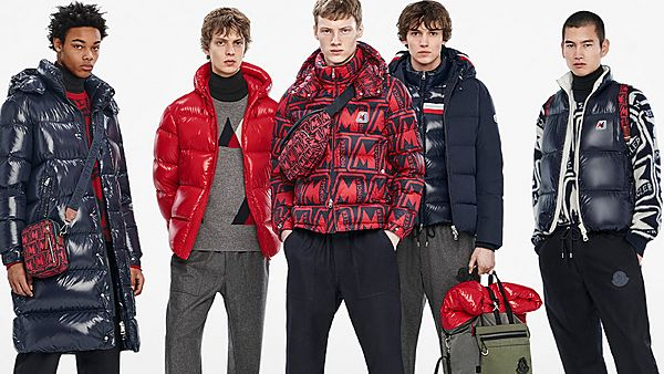 three men in moncler jackets