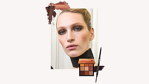 Model wearing autumn beauty trends